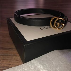 Authentic Gucci Leather belt w/ Double G